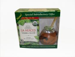 "Набор №3 ""La Mersed"". Калабас, бомбилья, Мате ""La Merced Organic"" 250 гр."